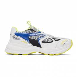 Axel Arigato SSENSE Exclusive White and Blue Marathon Sneakers 33050