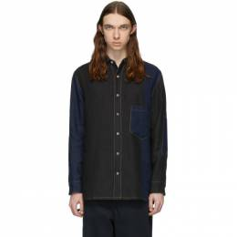 Loewe Navy Patchwork Shirt H2109051CO