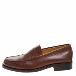 Tod's Brown Leather Penny Loafers Size 39.5 277646