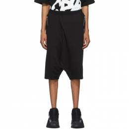 Julius Black Graphic French Terry Shorts 700PAM10