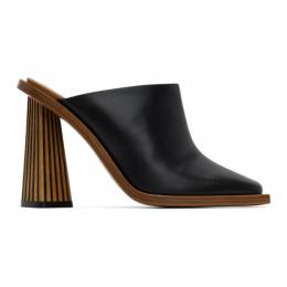 Givenchy Black Carved Mule Heels BE304HE0QH