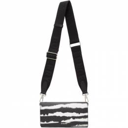 Burberry Black and White Leather Ollie Zebra Wallet 8029145