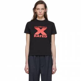 Balenciaga Black X-Rated Fitted T-Shirt 612964-TIVA7
