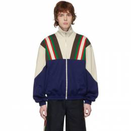 Gucci Blue and Off-White Track Jacket 615164 XJCFQ
