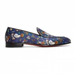 Christian Louboutin Blue Style On The Nile Tattoo Loafers 1200406