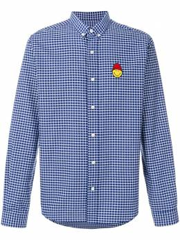 Button-Down Shirt Smiley Chest Patch AMI SMIC015412