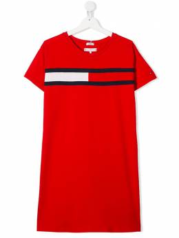 Tommy Hilfiger Junior TEEN logo-print T-shirt dress KG0KG05159XNL
