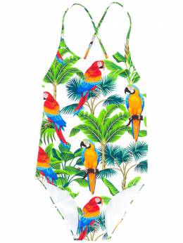 Shady parrot-print swimsuit Mc2 Saint Barth Kids SHADY
