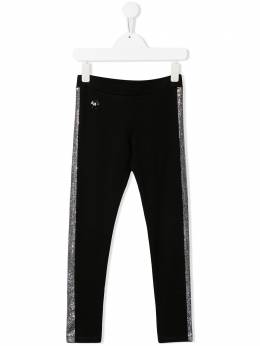 Philipp Plein Junior легинсы со стразами S20CGJT0256PJO002N