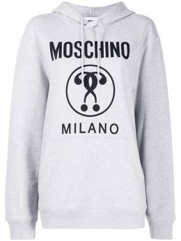 Moschino толстовка Double Question Mark с капюшоном A17180527