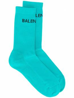 Balenciaga logo ribbed ankle socks 540633472B4