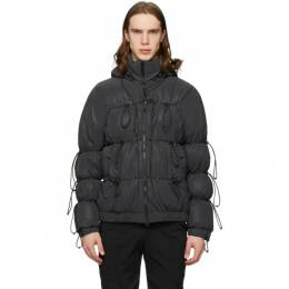 SSENSE Exclusive Black Down String Jacket Post Archive Faction PAF 1.0 L-OD RF