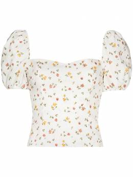 Reformation Casterly floral print linen top 1306076BAG