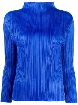micro-pleated long-sleeve top Pleats Please Issey Miyake PP06JK904