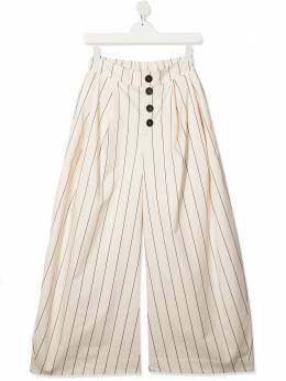 TEEN striped wide-leg trousers UNLABEL COLVER2T