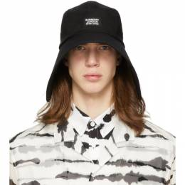 Burberry	 Black Cotton Bonnet Hat 8027763