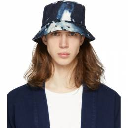 Blue Kago Bassen Bucket Hat Blue Blue Japan 700079939