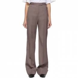 Lemaire Taupe Wool Straight Trousers W 201 PA265 LF431