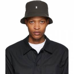 Norse Projects Khaki Seersucker Bucket Hat N80-0024