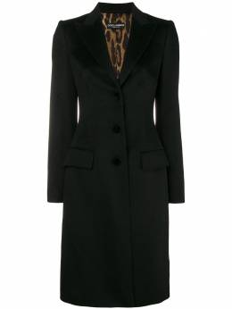Dolce and Gabbana single-breasted coat F0Q41TFU2Y6