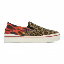R13 Multicolor Leopard Flaming Heads Sneakers R13S0155-733