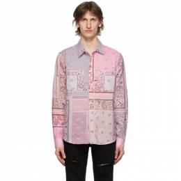 Amiri Purple Flannel Bandana Reconstructed Shirt Y0M06472PD