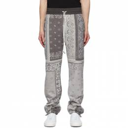 Amiri Black Bandana Reconstructed Sweatpants Y0M09477TE