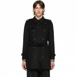Burberry Black Wool Cashmere Trench Coat 8018816