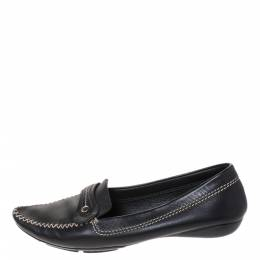 Dior Black Leather Loafers Size 41.5 286255