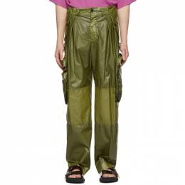 Dries Van Noten Khaki Coated Cargo Pants 20959-9174-606