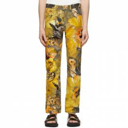 Dries Van Noten Multicolor Sequin Floral Trousers 22403-9070-976