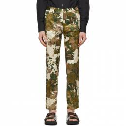 Dries Van Noten Khaki Floral Trousers 20911-9071-606