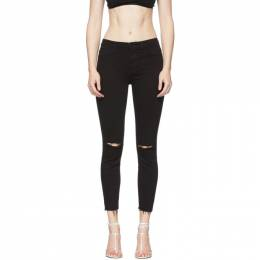 Frame Black Le High Skinny Crop Raw Edge Jeans LHSKCRE403