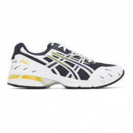 Asics Navy and Silver GEL-1090 Sneakers 1021A275