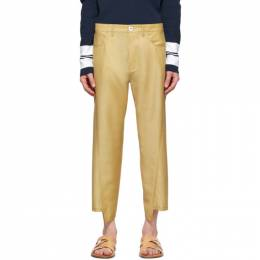 Lanvin Yellow Twisted Jeans RM-TR0006-4197-E20