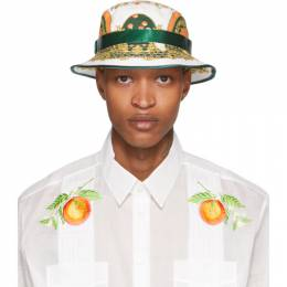 White Les Oranges Bucket Hat Casablanca AC20-HAT-001