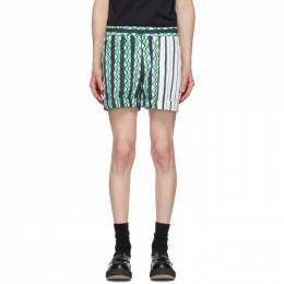 Neil Barrett Green Multi-Print Shorts BPA_779CB_N140C