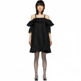 Henrik Vibskov Black Seersucker Floss Dress SS20-F307