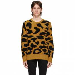 Nudie Jeans Yellow Leopard Hampus Sweater 150449