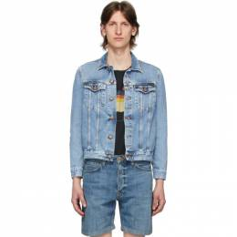 Nudie Jeans Blue Denim Faded Jerry Jacket 160669