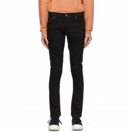 Nudie Jeans Black Tight Terry Jeans 112569