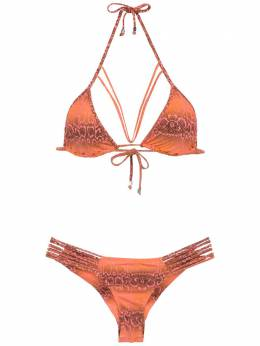 Amir Slama printed triangle top bikini set 310026