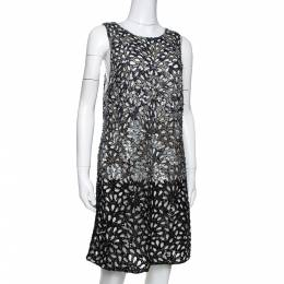 Alice+Olivia Limited Edition Embellished Tulle Laser Cut Remi Shift Dress M 290519