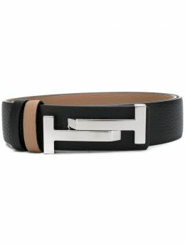 Tod's Double T buckle belt XCWCQR70100RIB