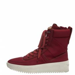 Fear Of God Burgundy Canvas Jungle High Top Sneakers Size 41 291184