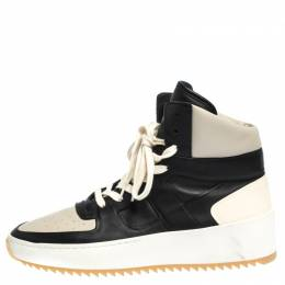 Fear Of God White/Black Leather Basketball High Top Sneakers Size 41 291162