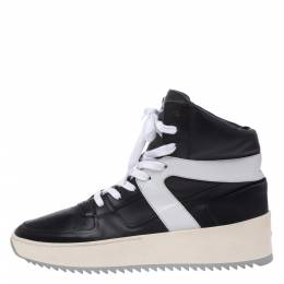 Fear Of God Black/White Leather Basketball High Top Sneakers Size 40 291928