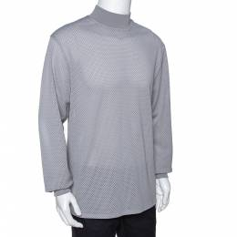 Fear Of God Fifth Collection Grey Perforated Knit Long Sleeve T Shirt S 291645