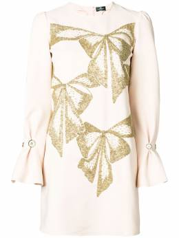 Elisabetta Franchi embellished bows dress AB47886E2V480