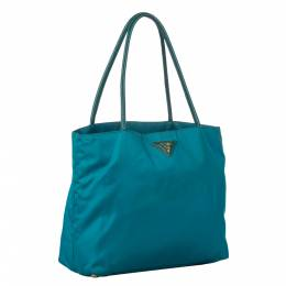 Prada Green Nylon Tessuto Tote Bag 291317